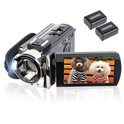 Video Camera Camcorder Digital Camera Recorder kicteck Full HD 1080P 15FPS 24MP 3.0 Inch 270...