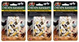 Zoo Med 3 Pack of Chicken Banquet Mineral Blocks, 6.17 Ounces Each, for Backyard Laying Hens