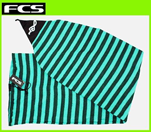 FCS ボードケース ストレッチニットケース [6'3] Stretch Knit Cover ショートボード用 (GREENストライプ, ショート6.3)