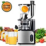 Aobosi Extracteur de Jus Vertical Slow Juicer 80mm Large Bouche Extracteur...