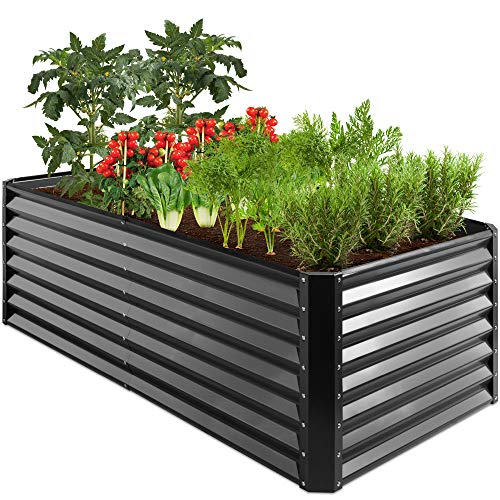 Best Choice Products 6x3x2ft Outdoor Metal Raised Garden Bed, Deep...