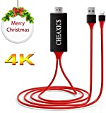 CHEAXICS Compatible with Phone to HDMI Adapter Cable, Digital AV Adapter 1080p HD TV Connector Cord Compatible with Phone X 8 7 6Plus, iPad, for iPod to TV Projector Monitor