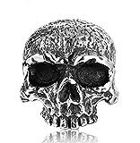 Anillo de acero de titanio para hombre, estilo gótico, hip hop, retro, con cabeza de cráneo, anillo para mujer, 123, color, 13