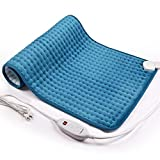 iTeknic Heating Pad for Back Pain and Cramps Relief -Extra Large [33'x17'], Auto Shut Off - Electric Fast Heat Pad with 6 Heat Settings Moist & Dry Heat Therapy Options - Hot Heated Pad