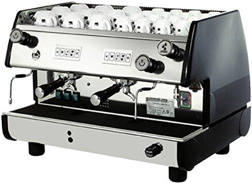 La Pavoni BAR-T 2V-B Commercial 2 Group 14L Boiler Volumetric Espresso Machine, Black Side Panels...