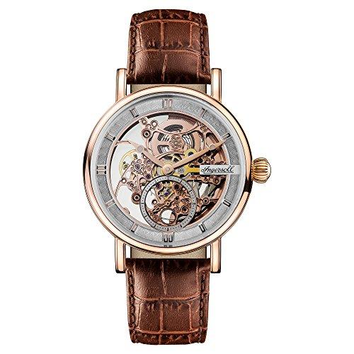 Ingersoll Herren Analog Automatik Uhr mit Leder Armband I00401