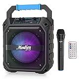 Haut-parleurs Karaoké Moukey Système de karaoké 6,5' Bluetooth Enceinte Sono...