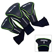 3 EMBROIDERED HEADCOVERS – Our contoured headcovers are made of buffalo vinyl and synthetic suede-like materials; The inside is velour lined for extra club protection; Each head is numbered 1, 3 and X CHOOSE YOUR FAVORITE NFL TEAM – Showcase your tea...