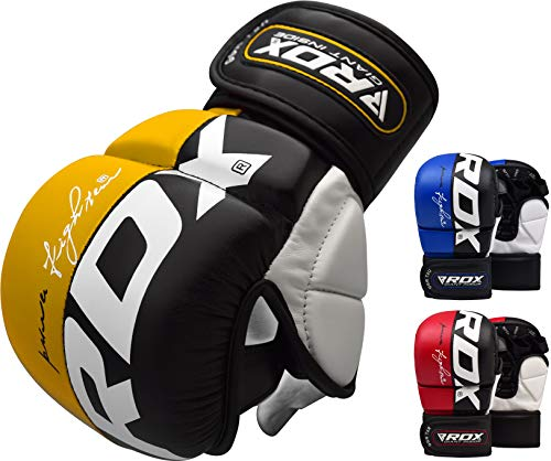 RDX 00Guanti MMA UFC Lotta Sport Sparring Sacco di Sabbia Free Fight Training Guanti Grappling...