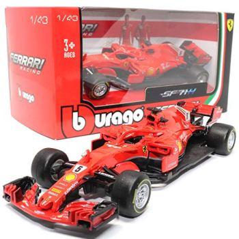Burago 2019 release SF71H Ferrari F1 S vettel car 1:43 scale Diecast model