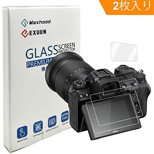 Maxhood (2枚入り) Nikon Z6 / Z7 強化ガラスフィルム, 9H 硬度2.5 Dラウンドエッジ アンチスクラッチ 気泡防止 高透過率 保護フィルム (Nikon Z6 / Z7)