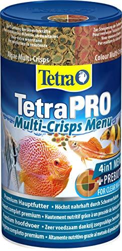 Tetra PRO Multi-Crisps Menu Mangime Completo di Alta qualit con Valori Nutrizionali Elevati, i 4 Multi-Crisp Diversi Offrono Una Dieta Varia - 250 ml