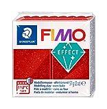 Staedtler - Fimo Effect - Pain Pâte à Modeler 57 g Effet Pailleté Rouge