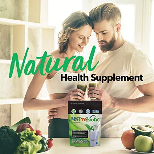 Prebiotic Powder Fiber Supplement: UNFLAVORED Digestive Gut Health Prebiotics by MSPrebiotic. Best Natural Superfood Health Supplements Feed Probiotics for Women, Men. Pre Workout Energy (Gift Box) 2