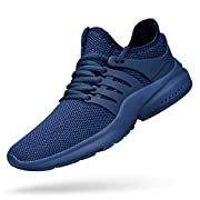 Breathable mesh upper:Lightweight support and breathable that make your foot always keeps dry and cool. Non-slip: The rubber outsole offers impact cushioning, anti-twist, abrasion-resistant and anti-slip performance Comfortable insole:the soft insole...