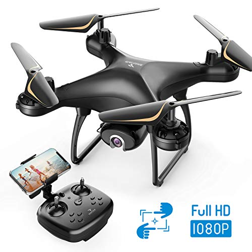 SNAPTAIN SP650 Drone 1080P FHD Telecamera per Principianti, Controllo Vocale, Controllo dei Gesti, Volo Circolare, Rotazione ad Alta velocit, modalit Hovering, modalit Headless