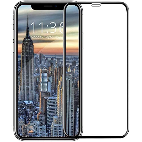 iPhone XS Max/Plus ガラスフィルム 【2018最新版専用設計 6D曲面全面保護】 日本旭硝子製 液晶保護フィルム 0.26mm 超薄型 6Dラウンドエッジ加工 硬度9H・防塵・透過率99%・指紋防止・気泡防止・自動吸着 iPhone XS Max 6.5インチ対応