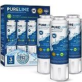 Pureline UKF8001 Replacement For Whirlpool Filter 4, UKF8001, EveryDrop EDR4RXD1, 4396395, Maytag UKF8001 Refrigerator Water Filter, UKF8001AXX, UKF8001AXX-750, FMM-2, WRX735SDHZ00, 3-Pack