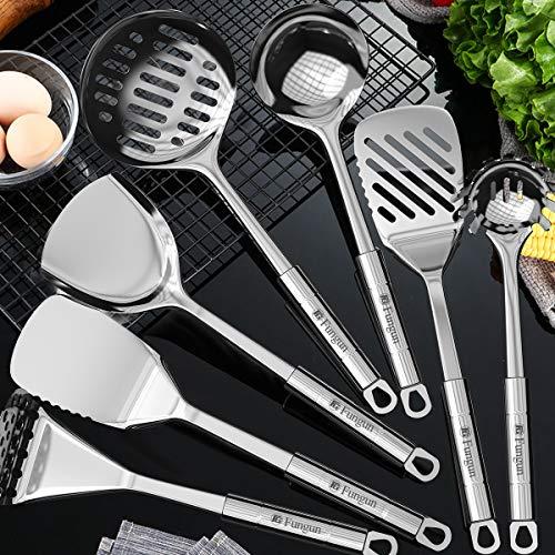 Product Image 5: Stainless Steel Kitchen Utensil Set- Fungun 28 Pcs Cooking Utensils - Nonstick Kitchen Utensils <a href=