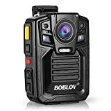 Body Worn Camera with Audio, BOBLOV 1296P Police Body Cameras for Law Enforcement, Security Guard, Waterproof Body Mounted Cam DVR Video IR with Night Vision, 170° Wide Angle (Built in 64GB)