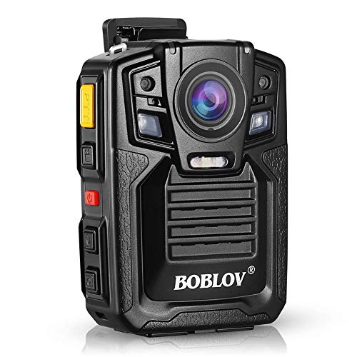Body Worn Camera with Audio, BOBLOV 1296P Police Body Cameras for Law Enforcement, Security Guard, Waterproof Body Mounted Cam DVR Video IR with Night Vision, 170 Wide Angle (Built in 64GB)