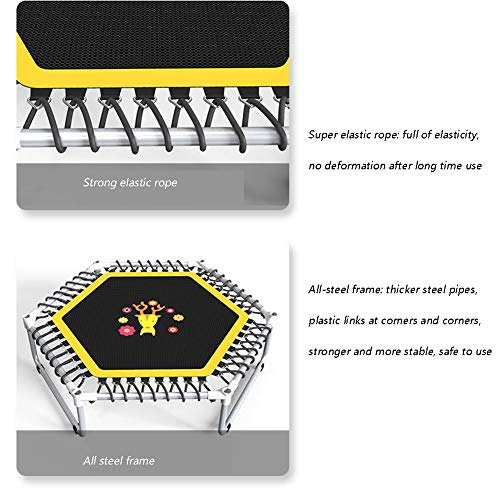 Fitness Trampoline Kids Baby Mini Rebounder Trampoline with Fence for Indoor Outdoor Exercise Jumper Max Load 150kg 9