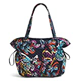 Vera Bradley Women's Signature Cotton Glenna Tote Bag, Butterfly Flutter