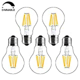 Bonlux 5-pack 8W A60 E27 Culot Vintage LED Ampoule à Filament Dimmable...