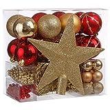 Lot déco Noël - Kit 44 pièces pour décoration sapin : Guirlandes,...