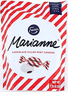 Marianne candies are a classic Fazer favorite The crispy peppermint crust of a Marianne sweet reveals a chocolate filling that will melt in your mouth Imported from Finland Each bag is 7.75oz (220g)