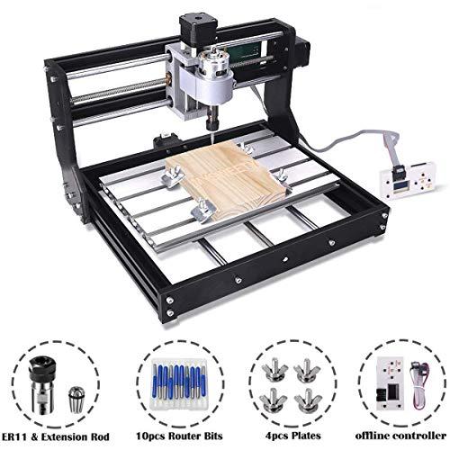 CNC 3018 Pro GRBL Steuerung DIY Mini CNC Maschine, 3 Achsen PCB Fräsmaschine, Holz Router Stecher mit Offline Controller, mit ER11 und 5mm Verlängerungsstange