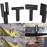 Blacksmith Anvil Hardy Tool Set 1Inch Creasing Tool Stake,Bottom Fuller,Hot Cut Tool,Turning Bending Scrolling Fork.(4PCS)