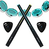 AEROBAND Air Drum Sticks Set, Bluetooth Electronic Drums, 4 Modes Portable Drumsticks With 2 Pieces Electronic Pocket Guitar/Foot Bass