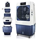 DUOLANG Outdoor Portable Evaporative Air Cooler with Fan & Humidifier,Swamp Cooler with Remote Control and LED Display,Air Conditioner 3 Speeds,Cools Rooms up to 861.1-1076.4Sq.Ft DL-80E