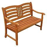 Gartenbank 2-Sitzer Montana Sitzbank aus Holz