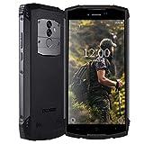 DOOGEE S55 Télephone Portable Incassable débloqué 4G, 2019 Smartphone Résistant Etanche Antichoc extérieur imperméable poussière Mobile IP68 5500mAh 5,5 Pouce 4+64Go Android 8 Dual Nano SIM GPS Compas