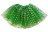 So Sydney Kids, Adult, or Plus Size Gold Polka DOT Tutu Skirt Halloween Costume (XXL (Extra Plus Size), Green)