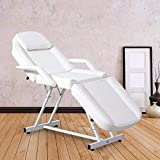 Facial Table Tattoo Chair Massage Bed Adjustable Professional for Salon Beauty Spa Lash Esthetician Equipment, White