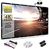 Mdbebbron 150 inch Projection Screen 16:9 HD Foldable Anti-Crease Portable Projector Movies...