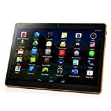 10 inch Android 7.0 Octa Core Tablet with Dual Sim Card Slots Unlocked 3G Phone Call Phablet 64GB ROM Tablet PC Built in WiFi and Camera GPS (107-Black)