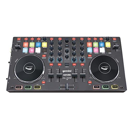 GEMINI SLATE 4 - Consolle/Controller DJ USB 4 Canali Con SERATO DJ INTRO
