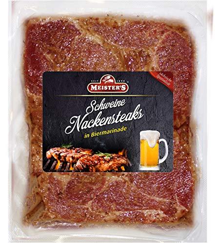 Bautzner Steak Fleisch | Mariniertes Grillfleisch mit Biermarinade | Frisches Steakfleisch für Grill und Pfanne Bier 600 GR