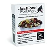 JustFoodForDogs PantryFresh Dog Food, Human Quality Ingredients Natural Ready to Serve Food for Dogs - Beef & Russet Potato (Set of 6)