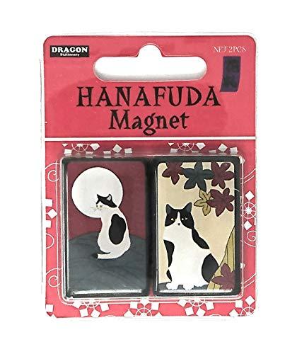 かわいい猫のマグネット 花札マグネット 風車