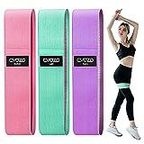 CVOZO Elastici Fitness (3 Pezzi), Bande Elastiche di Resistenza Set di 3 Colorate Fasce Elastiche Fitness in Tessuto con 3 Livelli di Resistenza,per...