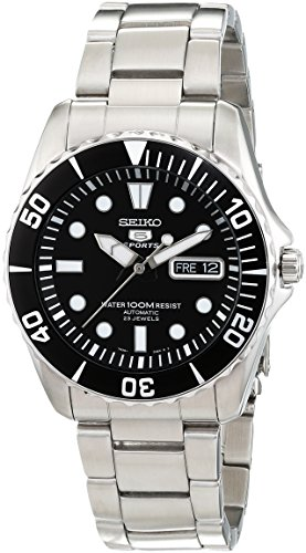 Seiko 5 Automatic Black Dial Stainless Steel Men's Watch SNZF17