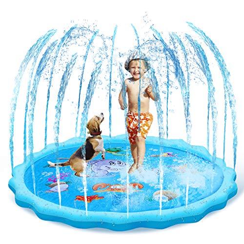 GARDOM Sprinkler for Kids,68' Sprinkle & Splash Play Mat Outdoor Summer Water Toys,Splash Pad for Toddlers Boys Girls Children(3-12 Year)