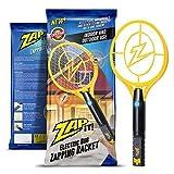 ZAP IT! Raquette Tue-Mouches électrique - Chargeur USB 4000 V - Lumière LED Super Lumineuse pour...
