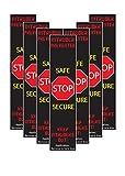 7, 10, 50, 100 Pack - Full Size Lockdown Magnetic Strips for School Lockdowns - Classroom Intruder Defense System - Security Door Frame Strike Plate Safety Magnet Strip for Active Shooter
