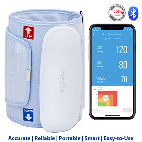 iHealth Feel Wireless Bluetooth Blood Pressure Monitor-MFi Certified,FSA-Eligible Upper Arm Blood Pressure Cuff, BP monitor for iOS & Android(Standard Cuff),Mobile Heart Monitor Blood Pressure Machine